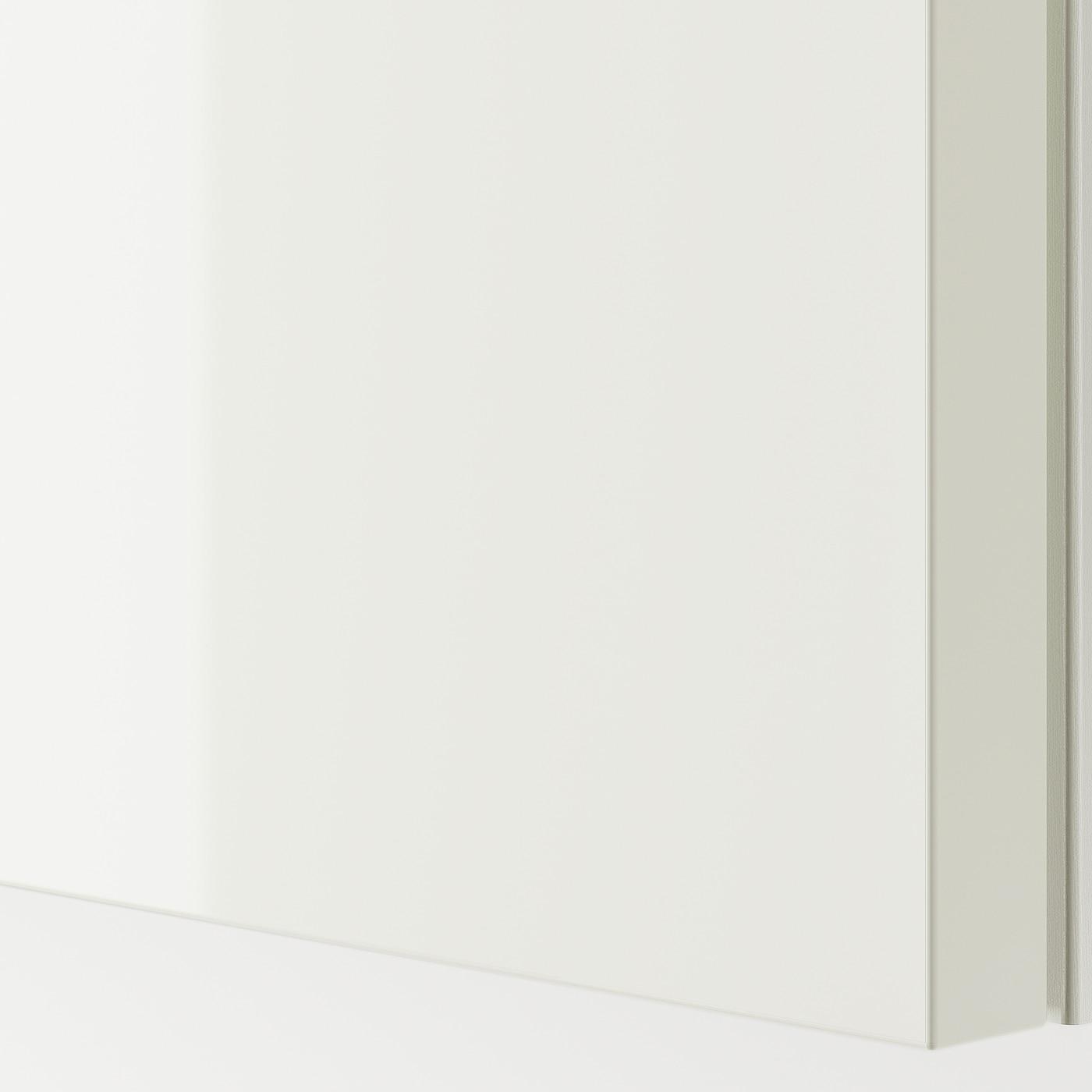 Istruzioni Montaggio Armadio Ikea Pax Ante Scorrevoli.Hasvik Coppia Di Ante Scorrevoli Lucido Bianco Ikea