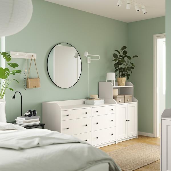 HAUGA Combinazione di mobili, bianco, 208x116 cm