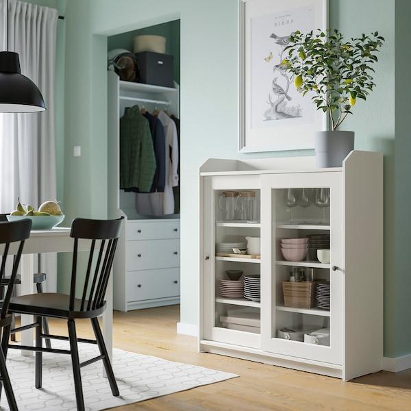 HAUGA Vetrina, bianco, 105x116 cm