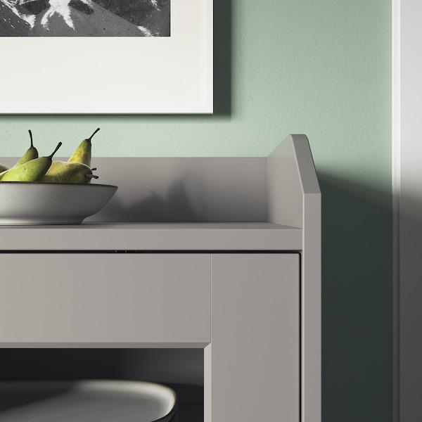 HAUGA Vetrina, grigio, 105x116 cm