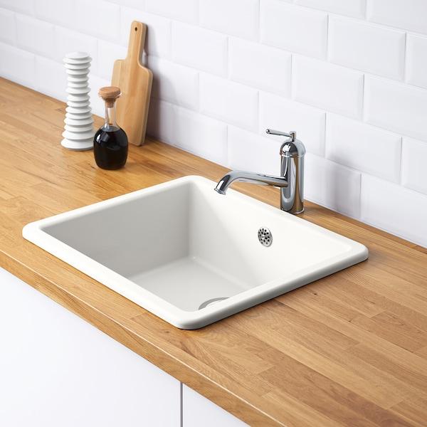 Lavello Da Incasso Per Cucina In Ceramica.Havsen Lavello Da Incasso 1 Vasca Bianco Ikea It