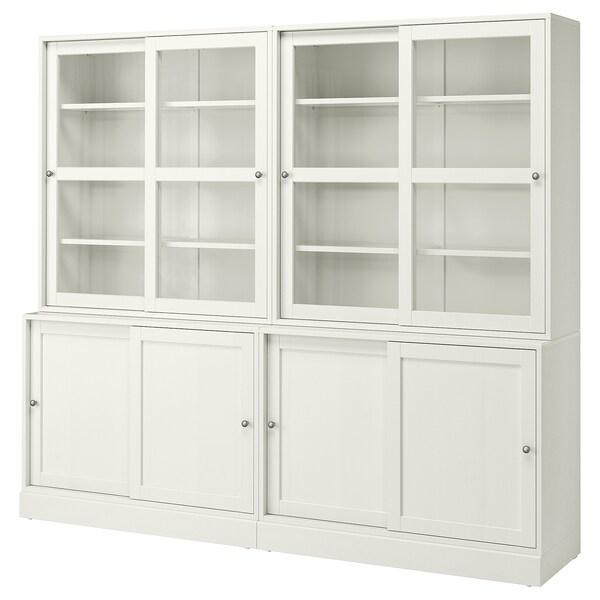 Ante Scorrevoli Vetro Ikea.Havsta Combinaz Ante A Vetro Scorrevoli Bianco 242x47x212 Cm Ikea It