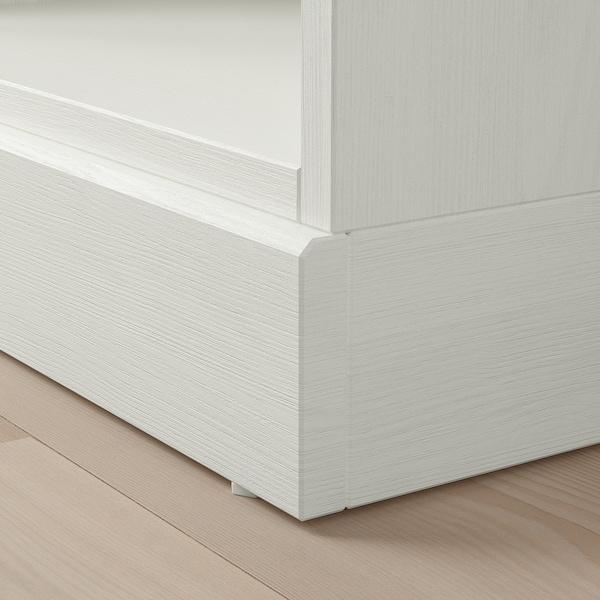 HAVSTA Scaffale con zoccolo, bianco, 81x37x134 cm