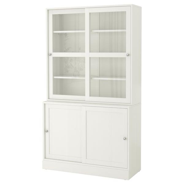 Ante Scorrevoli Ikea Su Misura.Havsta Combinaz Ante A Vetro Scorrevoli Bianco 121x47x212 Cm Ikea