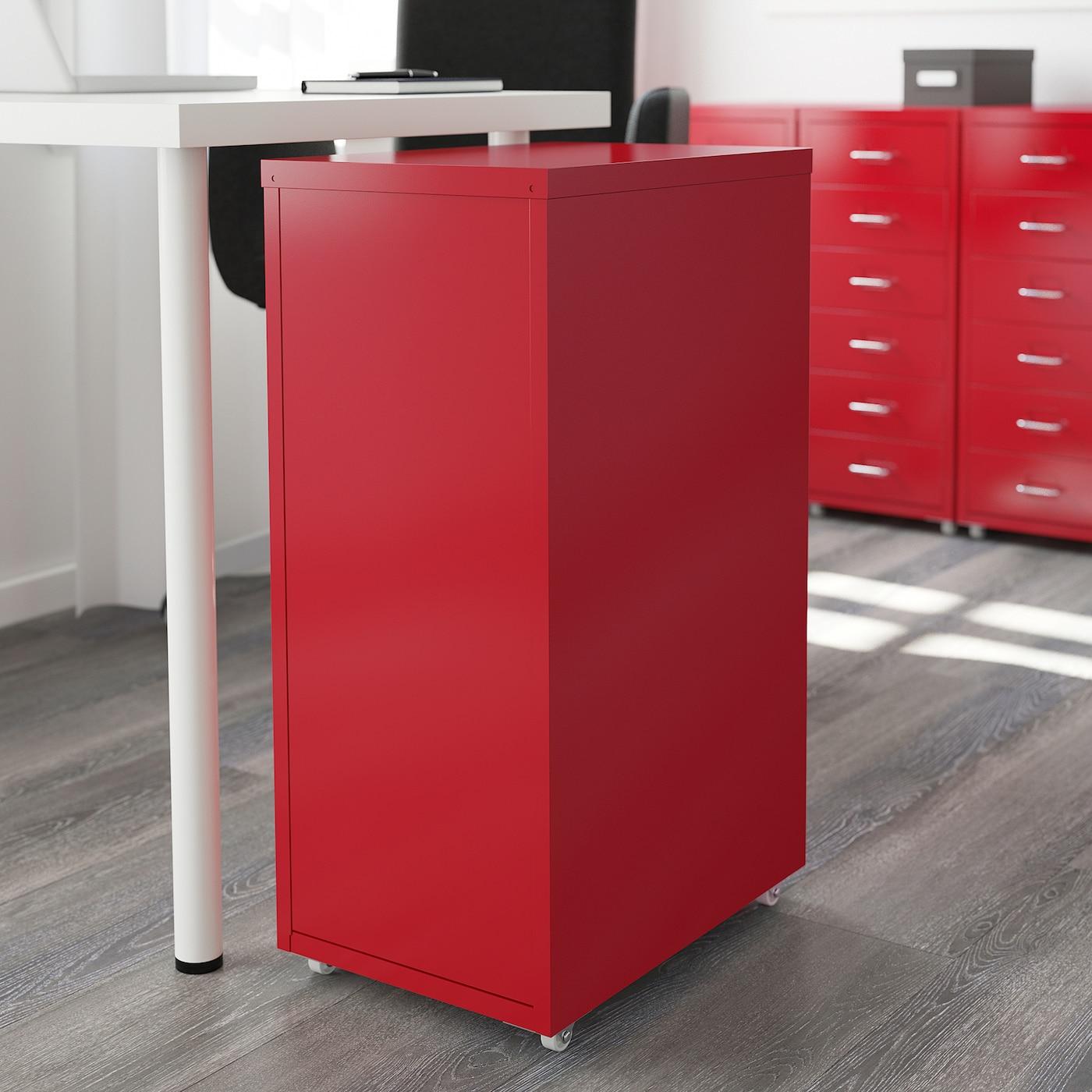 IKEA HELMER Cassettiera ufficio con rotelle 28x69 cm nero