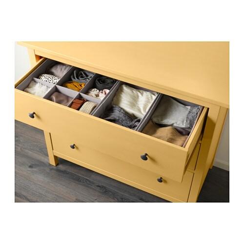 Hemnes Cassettiera Con 3 Cassetti Giallo Ikea
