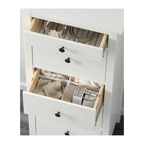 Hemnes Cassettiera Con 5 Cassetti Marrone Nero Ikea