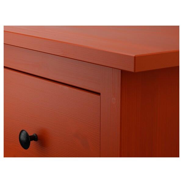 Ikea Hemnes Cassettiera Rossa.Hemnes Cassettiera Con 8 Cassetti Color Mogano 160x96 Cm Ikea