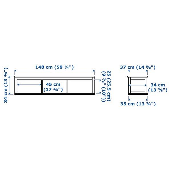 HEMNES Elemento di collegamento, mordente bianco, 148x37 cm