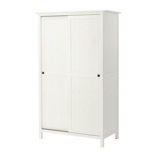 Hemnes guardaroba con 2 ante scorrevoli mordente bianco for Ikea guardaroba con ante scorrevoli