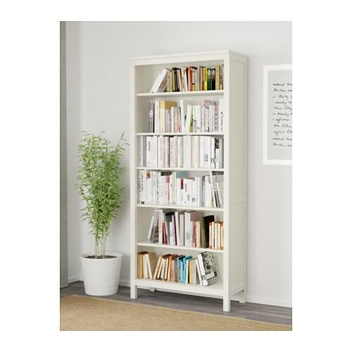 HEMNES Libreria, mordente bianco