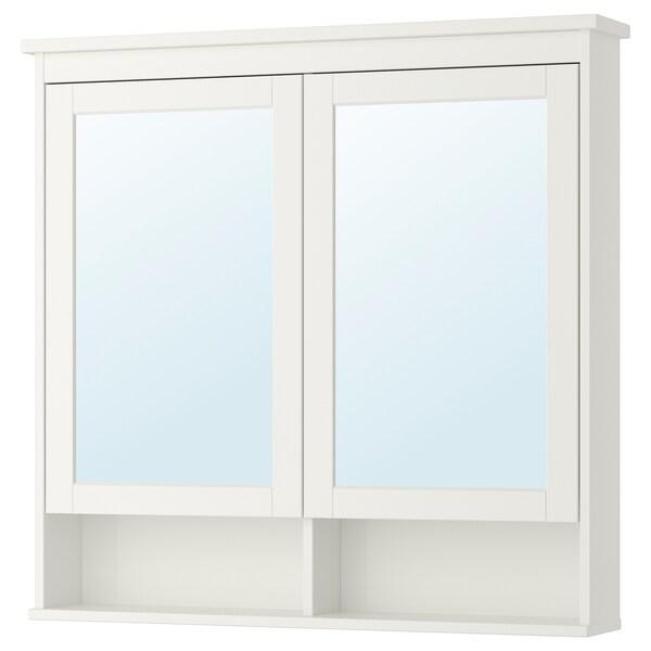 Ikea Hemnes Armadio 3 Ante.Hemnes Mobile A Specchio Con 2 Ante Bianco 103x16x98 Cm Ikea