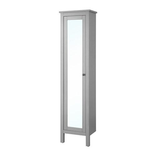 HEMNES Mobile alto con anta a specchio - grigio - IKEA
