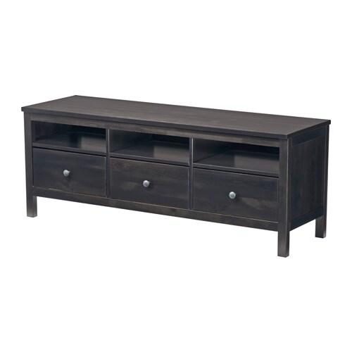 hemnes mobile tv - marrone-nero, 148x47 cm - ikea - Soggiorno Tv Ikea 2
