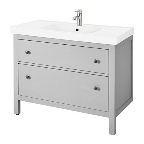 HEMNES / ODENSVIK Mobile per lavabo con 2 cassetti - grigio - IKEA