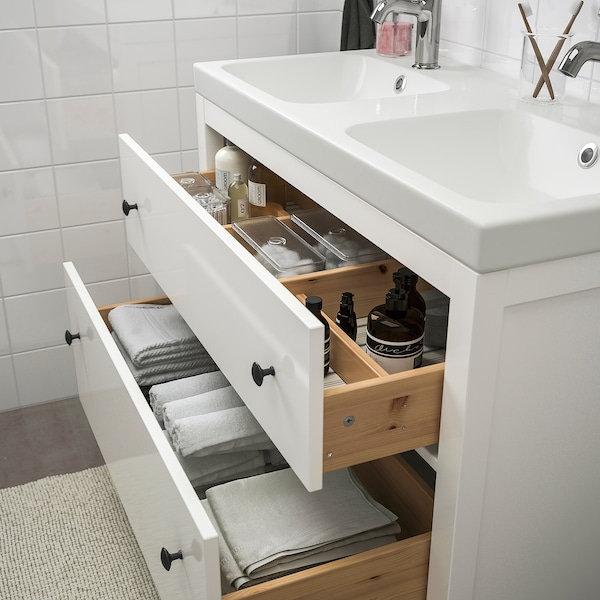 Ikea Mobili Bagno Lavandino.Hemnes Odensvik Set Arredo Bagno 5 Pezzi Bianco Miscel Voxnan Ikea It