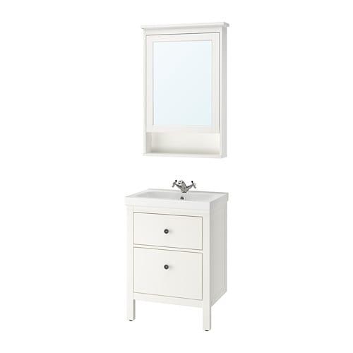 Hemnes odensvik set di 4 mobili per il bagno ikea for Mobili per il bagno ikea