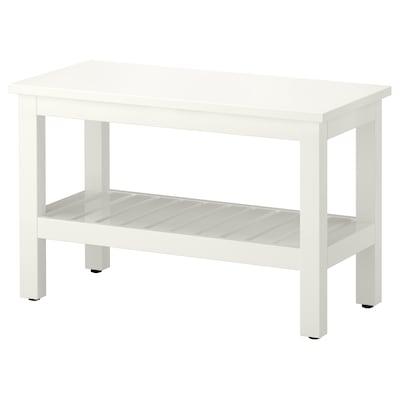 HEMNES Panca, bianco, 83 cm