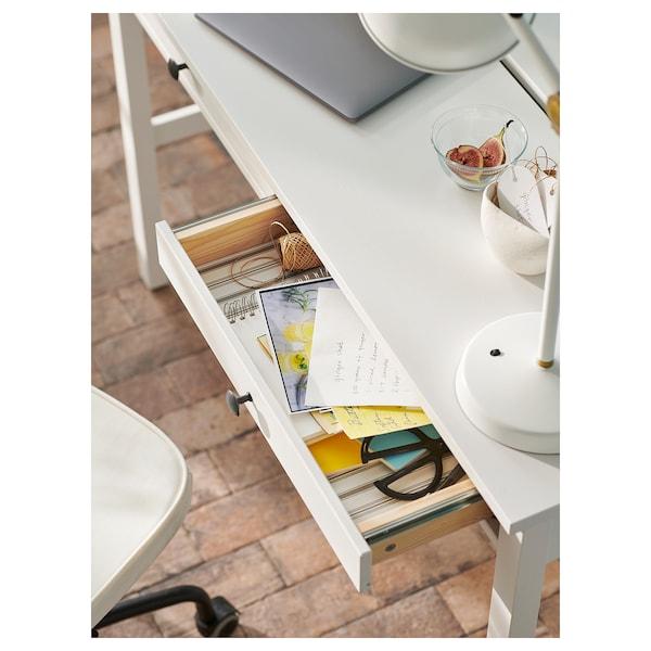 HEMNES Scrivania con 2 cassetti, mordente bianco, 120x47 cm