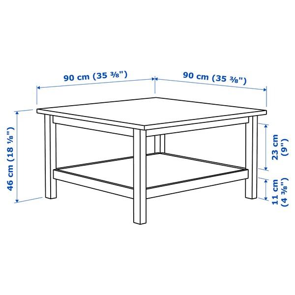 Hemnes Tavolino Marrone Chiaro 90x90 Cm Ikea It