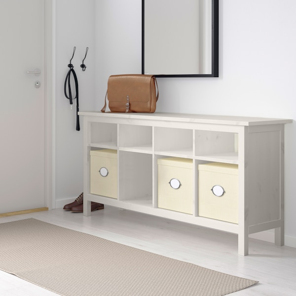 HEMNES Tavolo consolle, mordente bianco, 157x40 cm