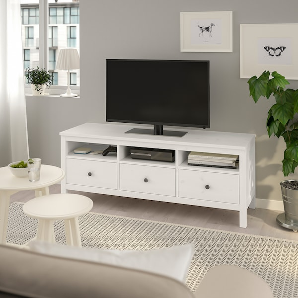 Basso Mobile Porta Tv Ikea.Hemnes Mobile Tv Mordente Bianco Ikea