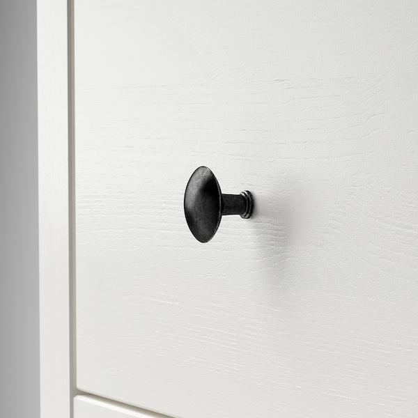 HEMNES Vetrina con 3 cassetti, mordente bianco/marrone chiaro, 90x197 cm