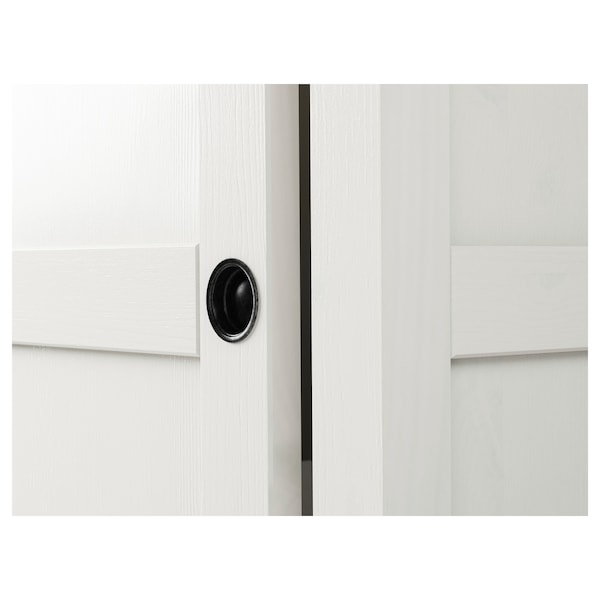 Ikea Hemnes Armadio 3 Ante.Hemnes Guardaroba Con 2 Ante Scorrevoli Mordente Bianco 120x197