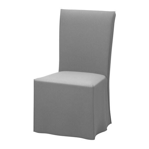 HENRIKSDAL Sedia con fodera lunga - Risane grigio, marrone scuro - IKEA