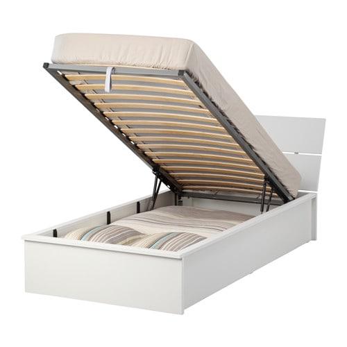Herdla struttura letto con contenitore bianco ikea - Letto contenitore una piazza e mezza ikea ...