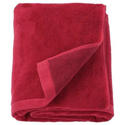 HIMLEÅN Telo bagno, rosso scuro/melange, 100x150 cm