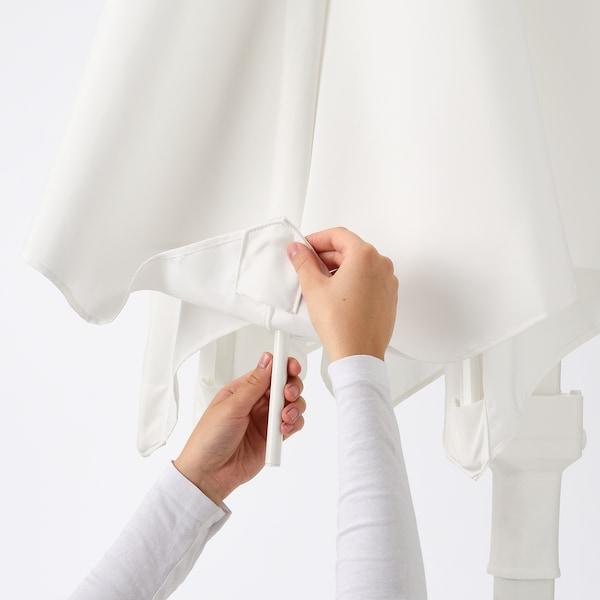 HÖGÖN Ombrellone a sospensione, bianco, 270 cm