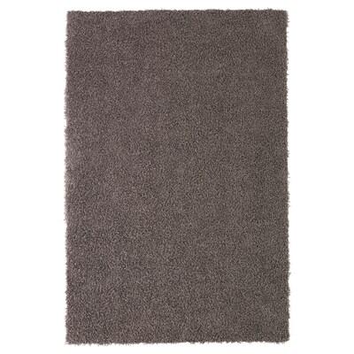 HÖJERUP Tappeto, pelo lungo, grigio tortora, 120x180 cm