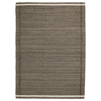 HÖJET Tappeto, tessitura piatta, fatto a mano marrone, 170x240 cm