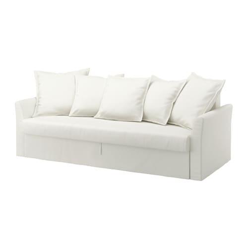 Holmsund divano letto a 3 posti ransta bianco ikea for Letto futon ikea