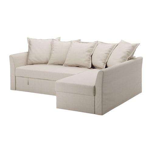 HOLMSUND Divano letto angolare - Nordvalla beige - IKEA