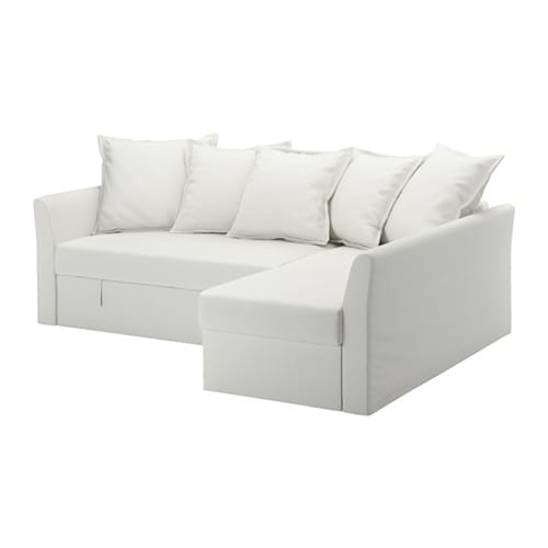 Holmsund divano letto angolare ransta bianco ikea for Divano letto bianco