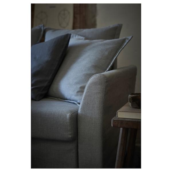 HOLMSUND Divano letto angolare, Nordvalla grigio fumo