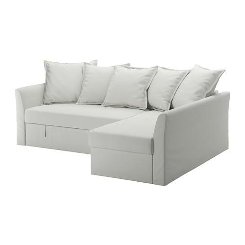 Holmsund divano letto angolare orrsta grigio bianco for Divano letto bianco