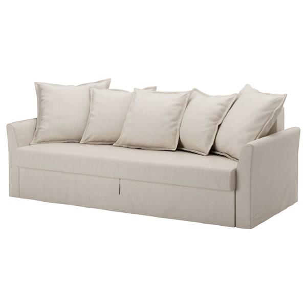 Ikea Catalogo Divani Letto.Holmsund Fodera Per Divano Letto A 3 Posti Nordvalla Beige Ikea