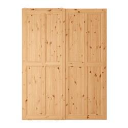 HURDAL Coppia di ante scorrevoli, marrone chiaro - Sottocosto IKEA Torino