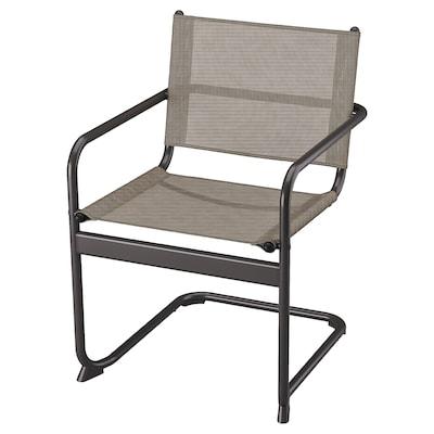 HUSARÖ Sedia con braccioli da giardino, grigio scuro