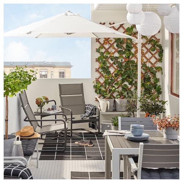 HUSARÖ Tavolino, da giardino, grigio scuro, 49x49 cm