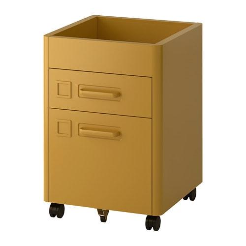 Cassettiera Con Ruote Ikea.Idasen Cassettiera Con Rotelle Ocra Bruna Ikea