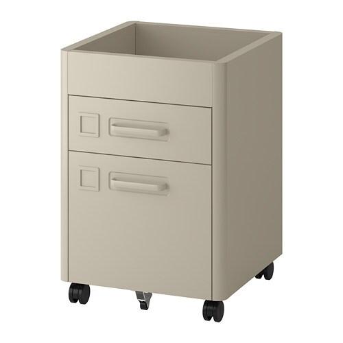 Cassettiera Ufficio Con Serratura.Idasen Cassettiera Con Serratura Smart Beige Ikea