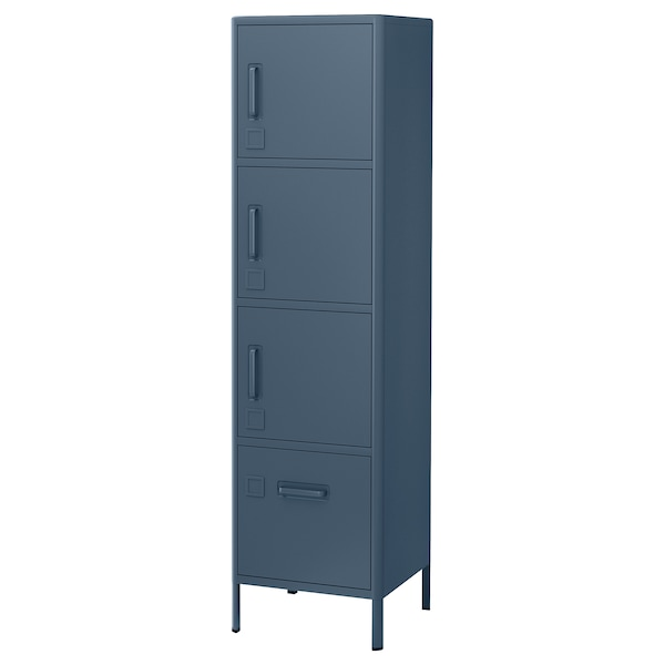 Armadio Con Lucchetto Ikea.Idasen Mobile Alto Con Serratura Smart Blu 45x172 Cm Ikea It