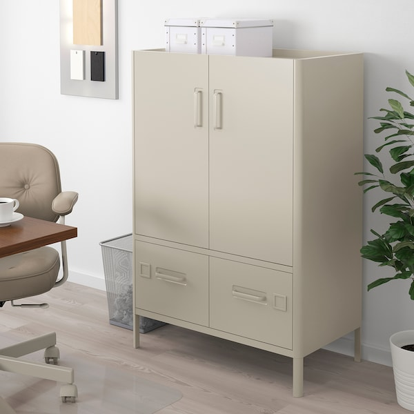 Armadio Con Lucchetto Ikea.Idasen Mobile Con Serratura Smart Beige 80x119 Cm Ikea It