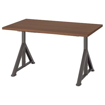 IDÅSEN Scrivania, marrone/grigio scuro, 120x70 cm