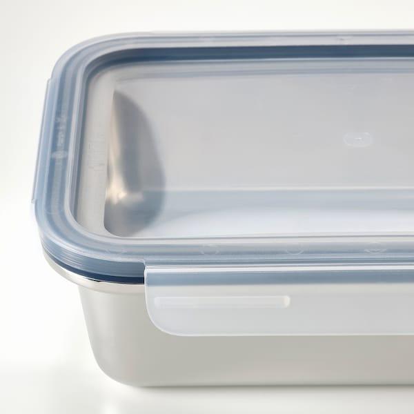 IKEA 365+ Contenitore con coperchio, rettangolare inox/plastica, 1.0 l