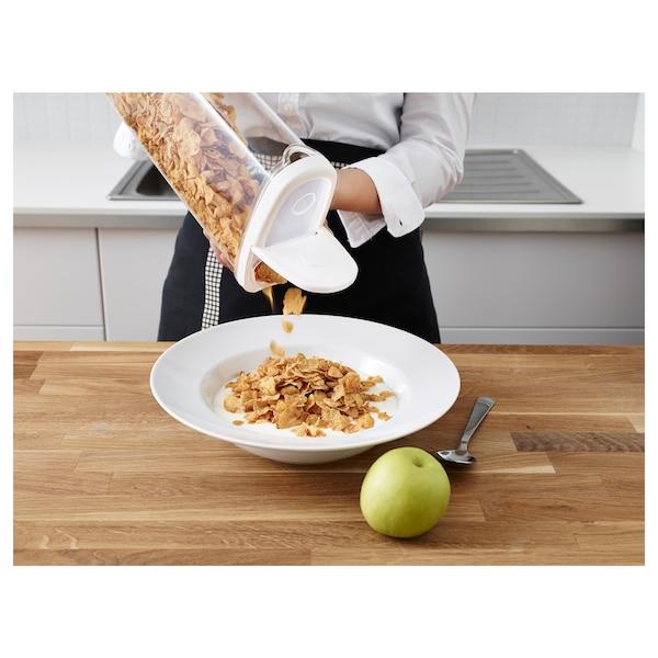 IKEA 365+ Contenitore/coperchio cibi secchi, trasparente/bianco, 2.3 l